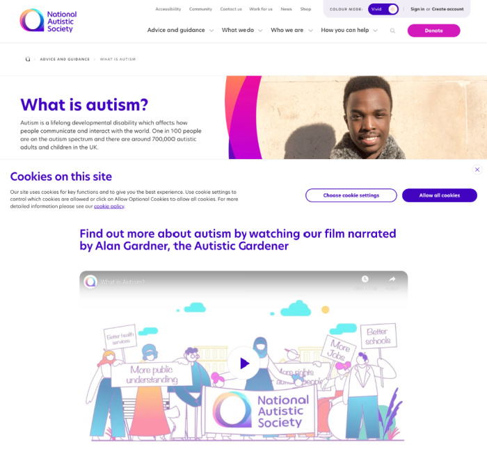 National Autistic Society website